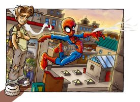 Ultimate Spider-Man -coloured by scoundreldaze