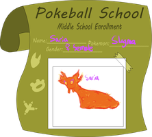 Pokeball School- Saria the Slugma by Little-Volii