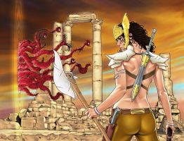 War Goddess 7 wraparound cover by MDiPascale
