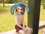*FOR SALE* Blue bunny eared hat by Mindfulmoonlight