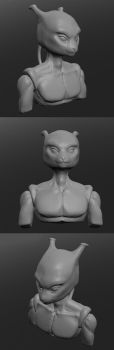 Mewtwo - first sculptris sculpt by hibbary