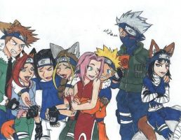 Naruto and My Cell by E-vay