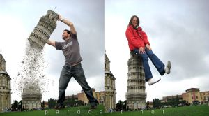 Paloma and me in Pisa, Italy by pardoart