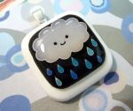 Rain cloud pendant by luminarydreams