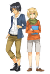SC Taiga and Lucas by c-r-y-s