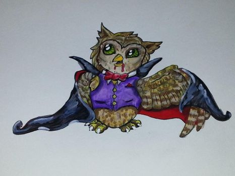 Vampire Owl Color by CatFury