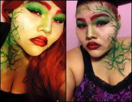 Poison Ivy makeup by xmixedracex
