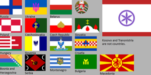 New Slavic flags by hosmich