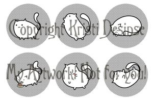 Fat Cat Buttons by Keska