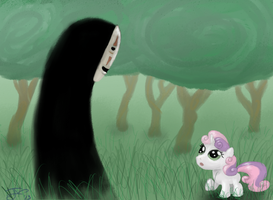 Sweetie meets No Face by MysteriousMonocle