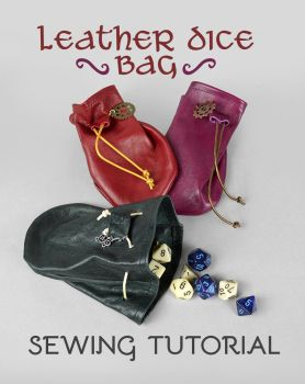 Leather Dice Bag Sewing Pattern by SewDesuNe