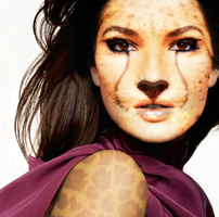 Cheetah Face Morph by Finepoint-5