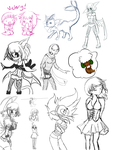 Sketchdump by Happee-Dudlez