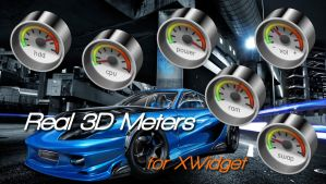 Real 3D Meters for xwidget by jimking