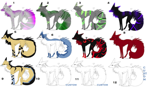 wolf-coyote adopts by Icey-adopts