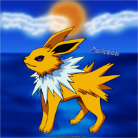 Jolteon In The Water by RavenxRyu