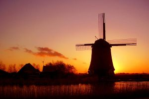 Windmill Sunset 2 by Raingarden