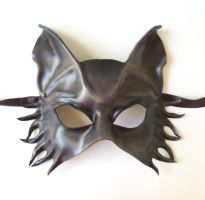 WOlf Leather Mask half face grey brown black by teonova