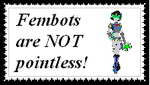 Fembot Stamp by lady-warrior