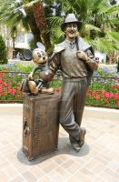 Walt and Mickey Statue by sevenaries