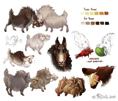 more boarwolves! by Fedini