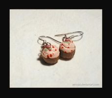red fruit cupcakes earrings by Aerusss