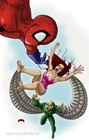 Spidey peril by Dan-DeMille