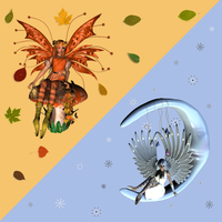 Autumn and Winter Fae Pack by xxx-0x0-xxx