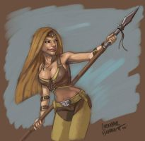 Spear fighter by MechaBennett