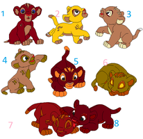 free babies lions adoptables ONLY ONE by goz-nalita