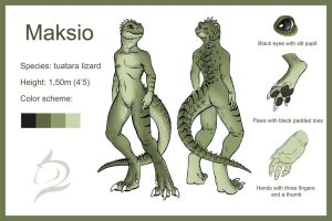 Maksio Character Sheet by FlamSlade