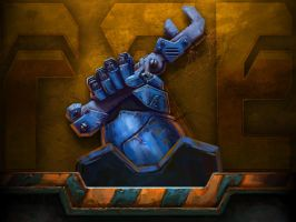 Terran Marine hand by AncientSources