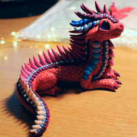 Red Purple and Blue Dragon by RaLaJessR