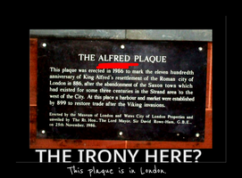 The Alfred Plaque by MiniskirtAlchemist