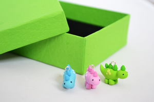 Handmade Cute Dinosaur Charms by Linnypig