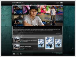 Craig Sparkes website design by br3n
