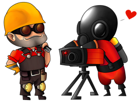 Engie and Pyro by SillyEwe