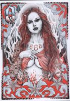 Angel tattoo by inkstruktor on deviantart for She devil tattoo