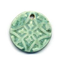 Matte Green Ceramic Pendant by ChinookDesigns