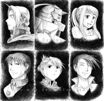 FMA - Pen Sketches by Lo-wah
