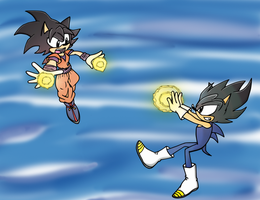 Goku and Vegeta Sonic Style by Silencix