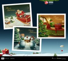 Nestle Greeting Cards by indestudio