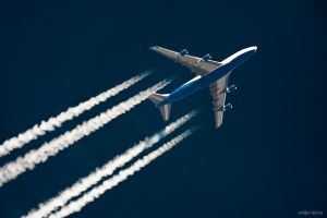 Boeing 747 +30.000 feet E bound Brussels by Rapierr