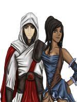 Makorra crossover, Assassin's Creed. by artissx
