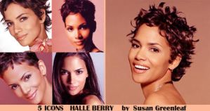 Halle Berry icons by monaredexmort