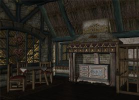 Cottage Interior 2 by HarleyBliss