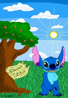Stitch in MS Paint by kaykaykit