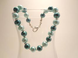 Handknotted Aqua Pearl Bracelet 16 by TheSortedBead