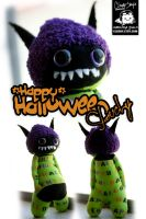 Happy Halloween Slouchy by cleody
