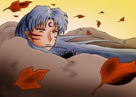 Sesshomaru Leaves Are Falling by LostAffection